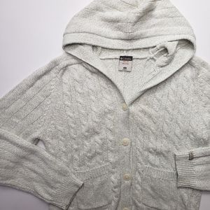 Columbia Button Down Pocket Hooded Cardigan